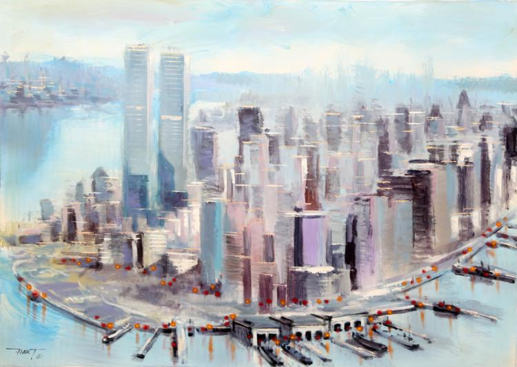 Hart, Untitled (Lower Manhattan I), Oil Painting