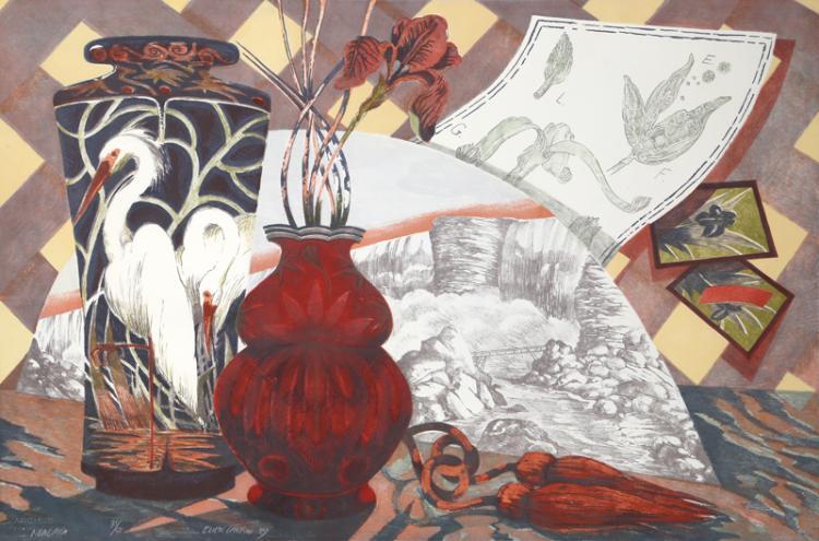 Ellen Lanyon, Niagara, Lithograph