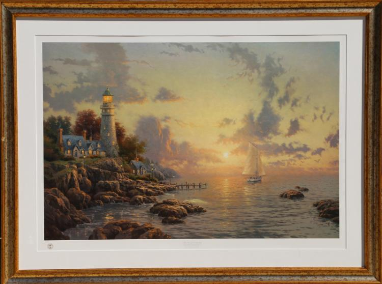 Thomas Kinkade, The Sea of Tranquility, Offset Lithograph