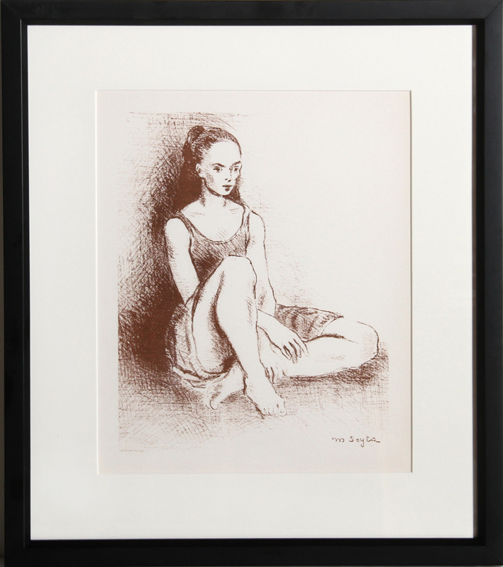 Moses Soyer, Young Dancer, Lithograph