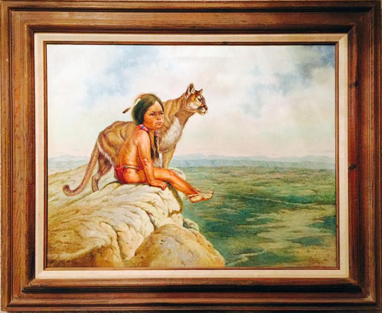 Gregory Perillo, Nature's Child (Blackfeet), Oil Painting