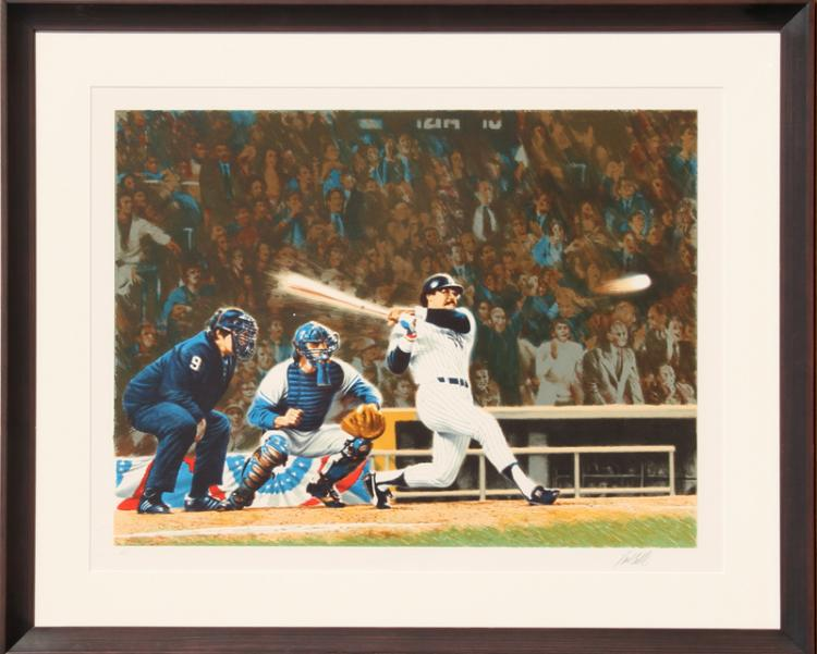 Paul Calle, Mr. October - Reggie Jackson, Lithograph