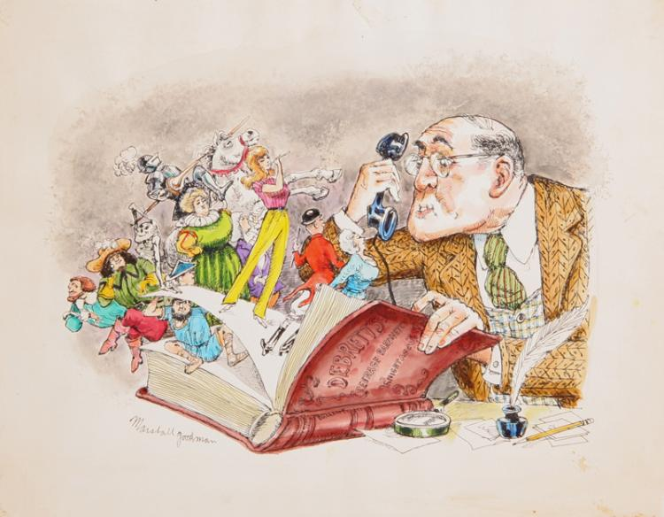 Marshall Goodman, Debrett's Guide to Etiquette Fantasy (417), Watercolor Painting