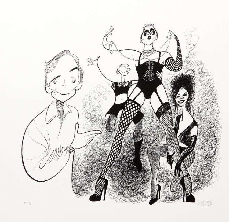 Al Hirschfeld, Rocky Horror Picture Show (Dick Cavet), Lithograph