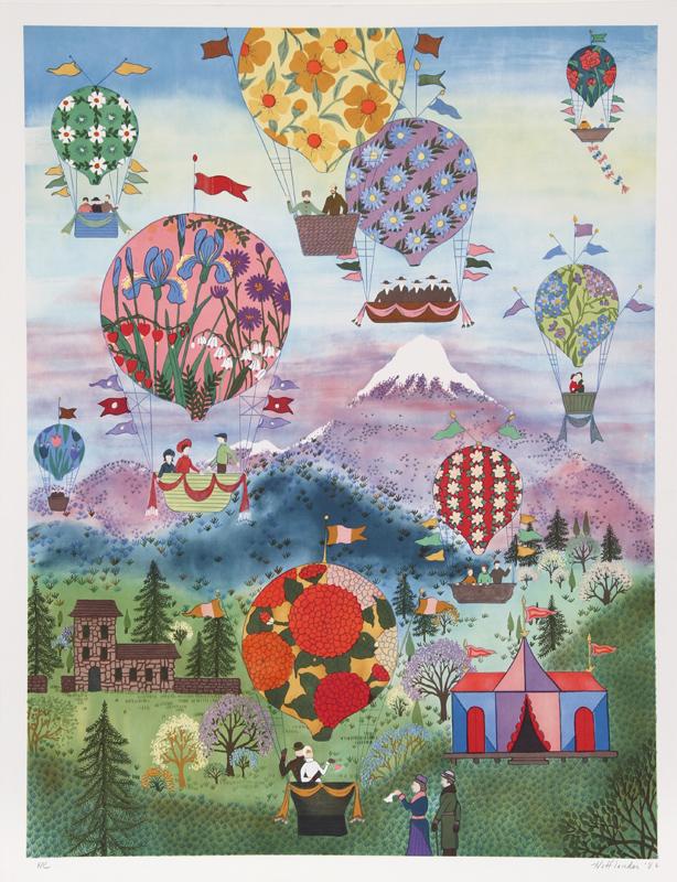 Jack Hofflander, Floral Balloons, Serigraph