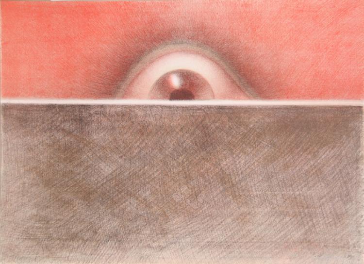 Rodolfo Abularach, Rising Eye, Lithograph