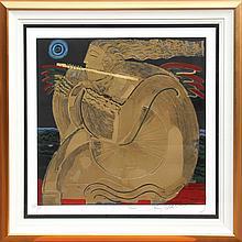 Orlando Agudelo-Botero, Serenata de la Luna, Serigraph