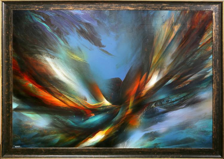 Leonardo Nierman, Flight, Oil Painting