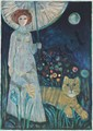 Judith Bledsoe, Woman and Cat, Lithograph, Judith Bledsoe, Click for value