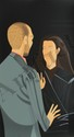 Alex Katz, Pas de Deux III - Francesco and Alba Clemente, Silkscreen, Francesco (1928) Clemente, Click for value