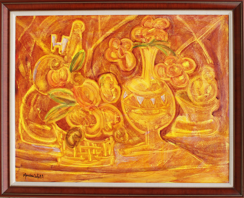 Menelaw Sete, Flower Arrangement, Painting