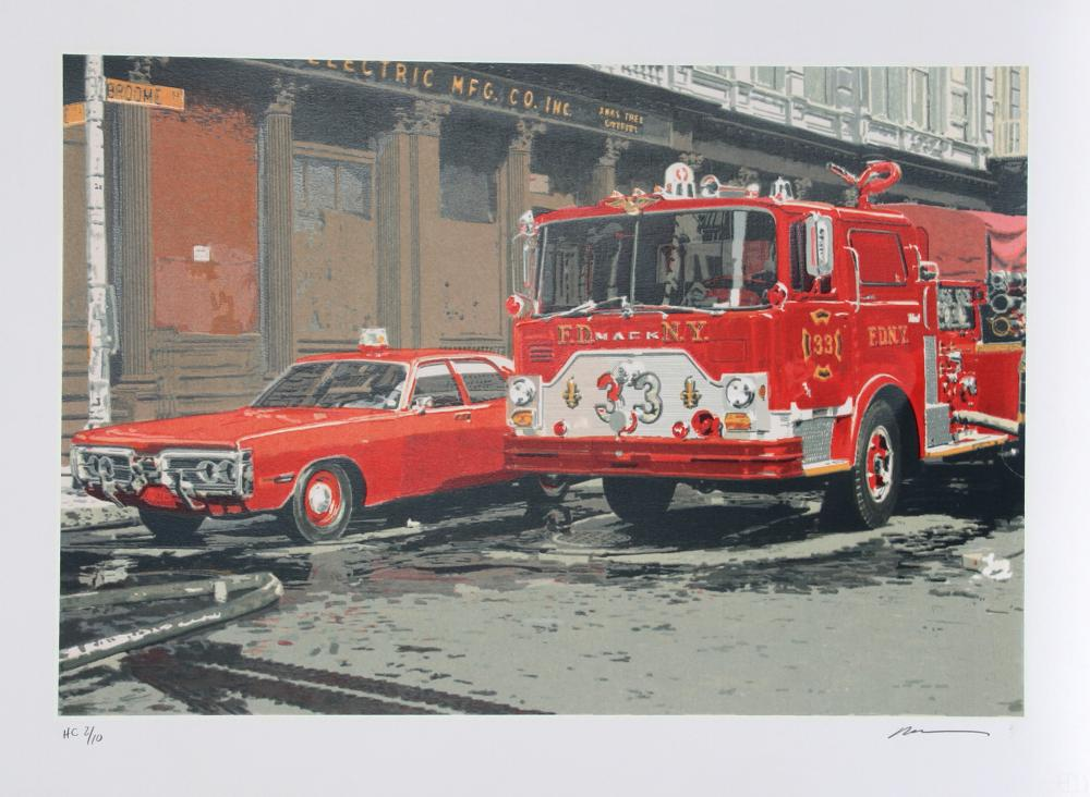 Ron Kleemann, Fire Engine (FDNY), Silkscreen