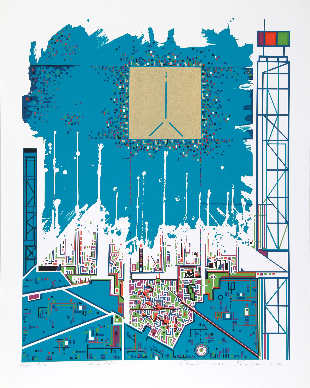 Risaburo Kimura, City 362, Screenprint