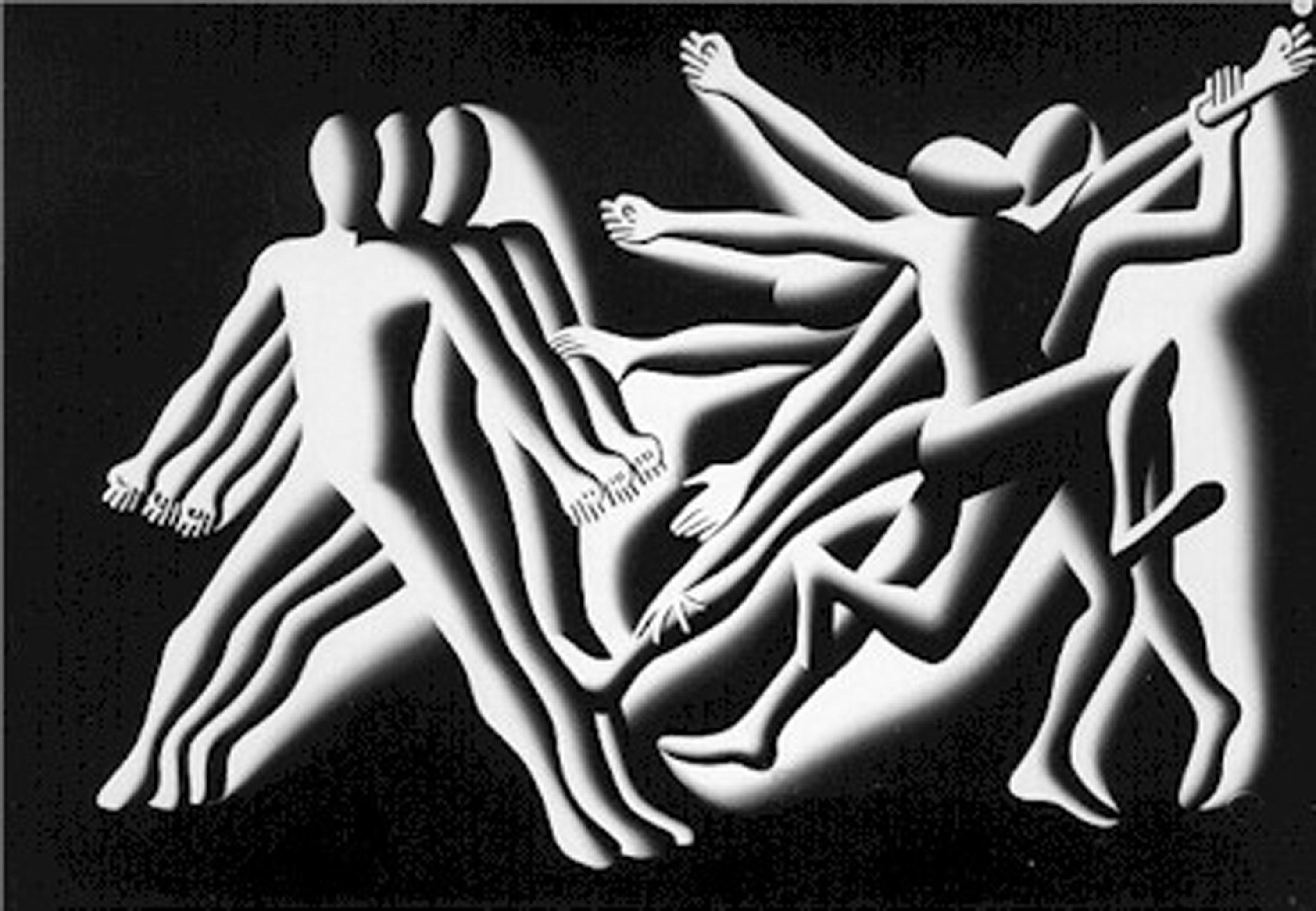 Mark Kostabi, Conservatives and Liberals, Oil Painting