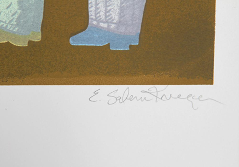 E. Salem Krieger, Passing The Buck, Screenprint
