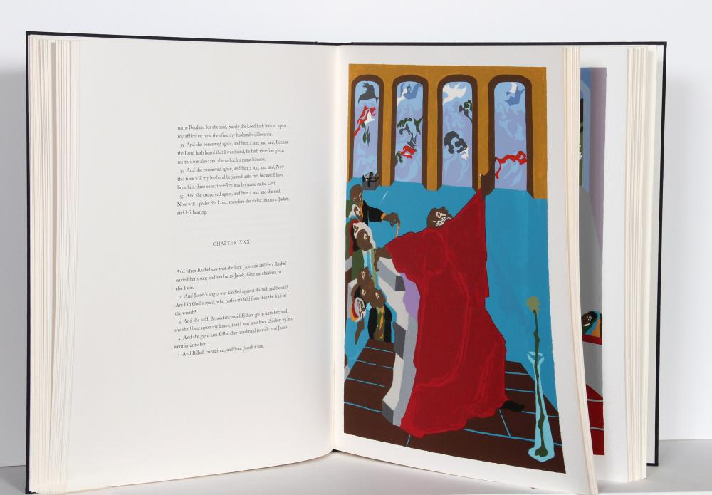 Jacob Lawrence, Genesis, Book with 8 Silkscreens