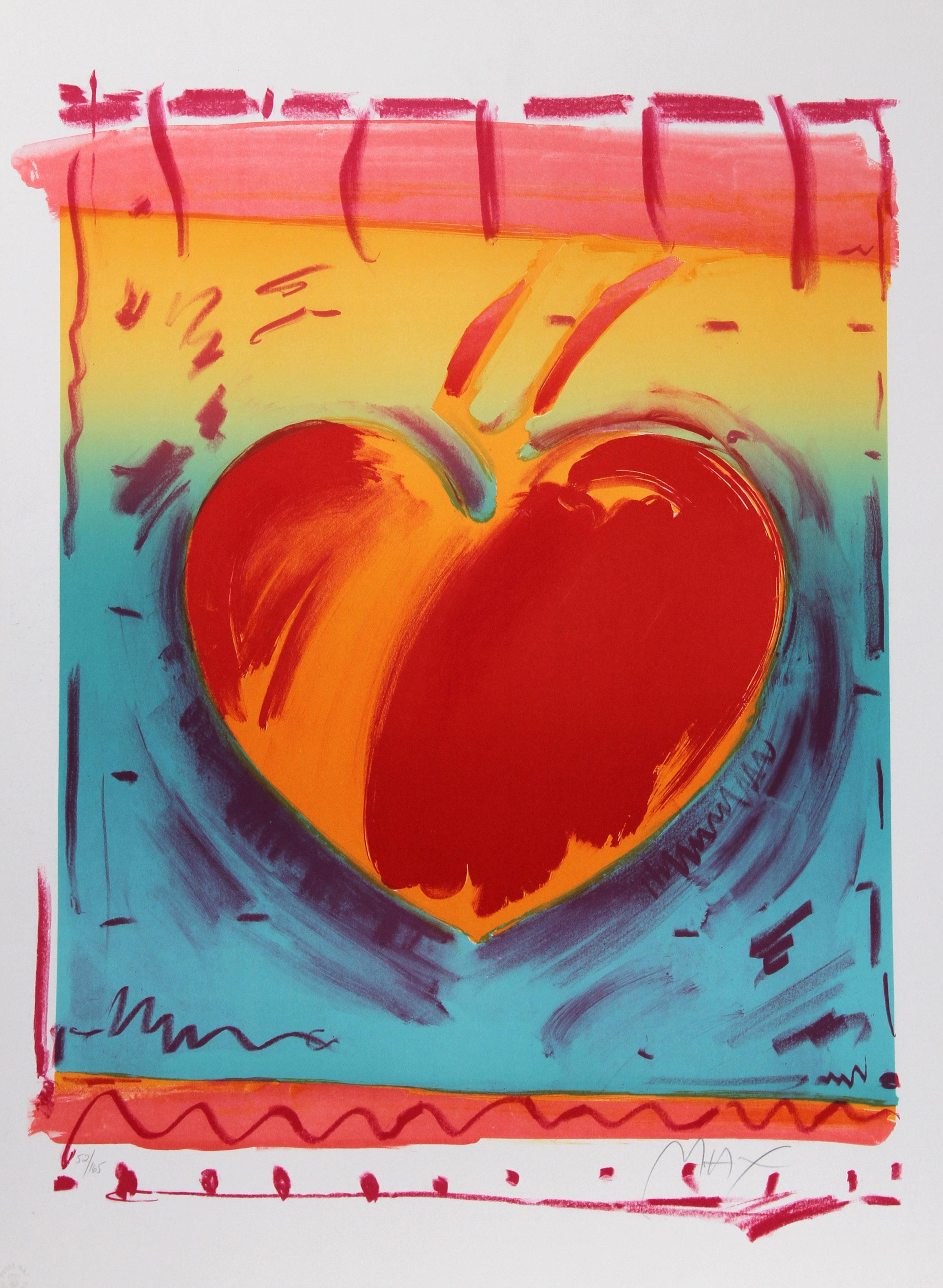 Peter Max, Heart II, Lithograph