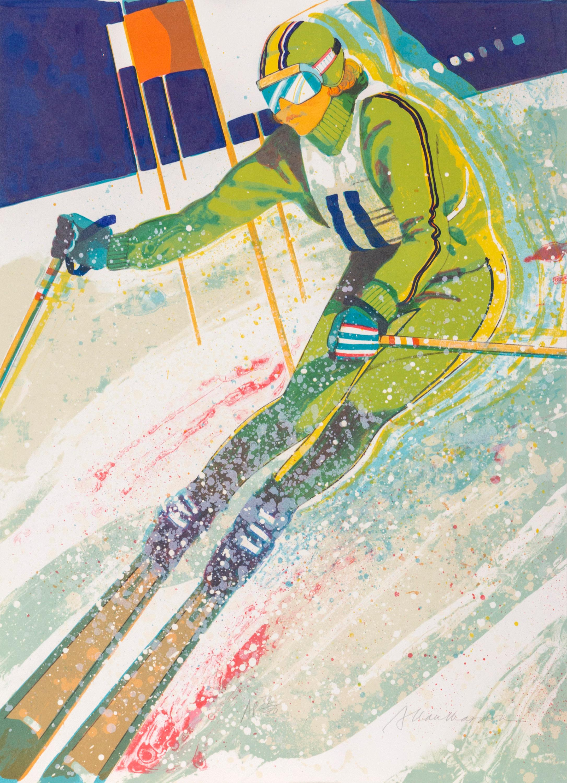 Allan Mardon, Slalom Skier, Lithograph