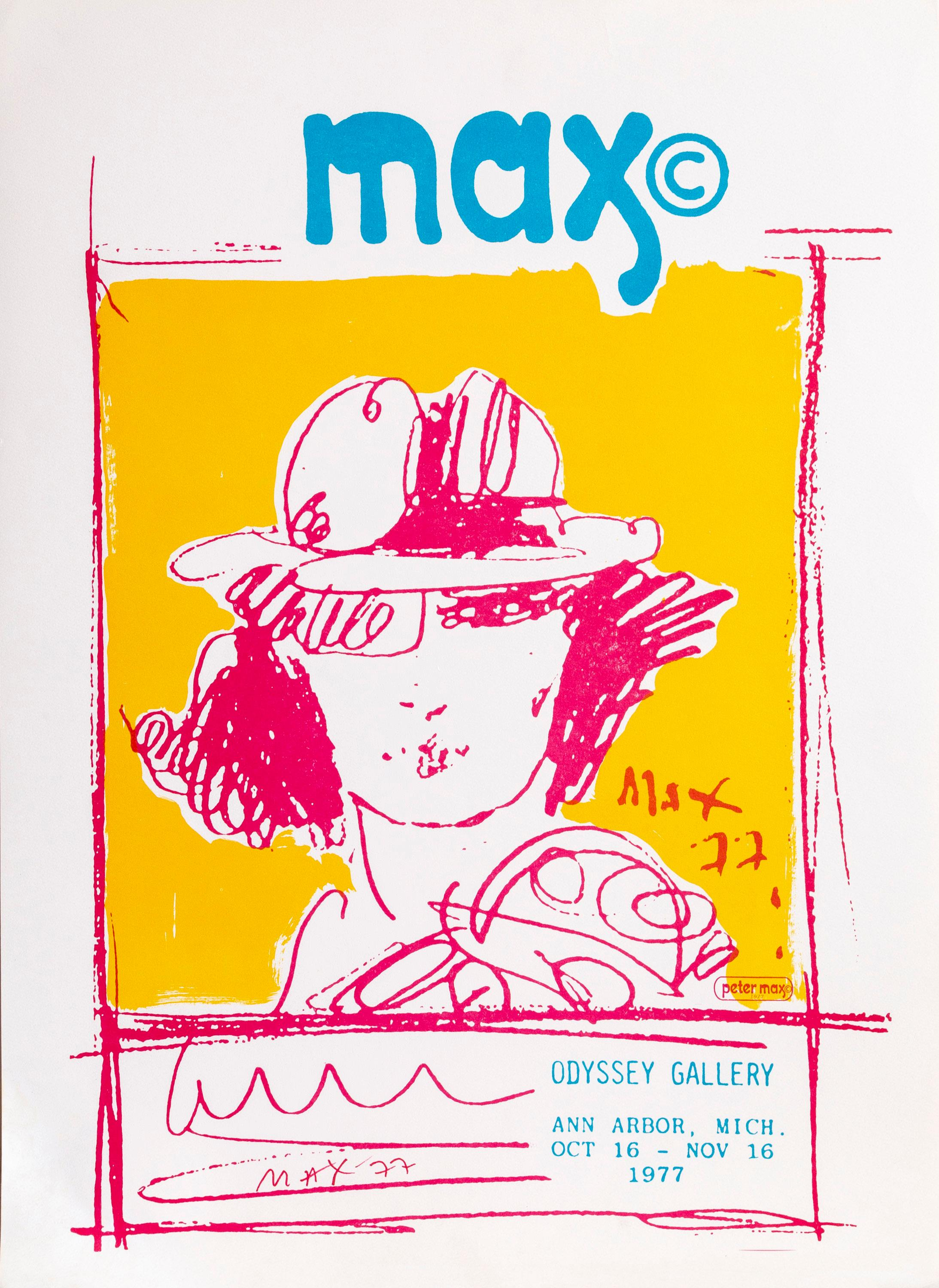 Peter Max, Odyssey Gallery, Poster