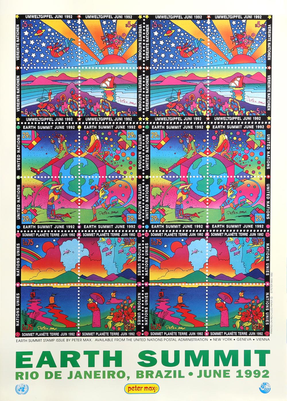 Peter Max, Earth Summit, Poster