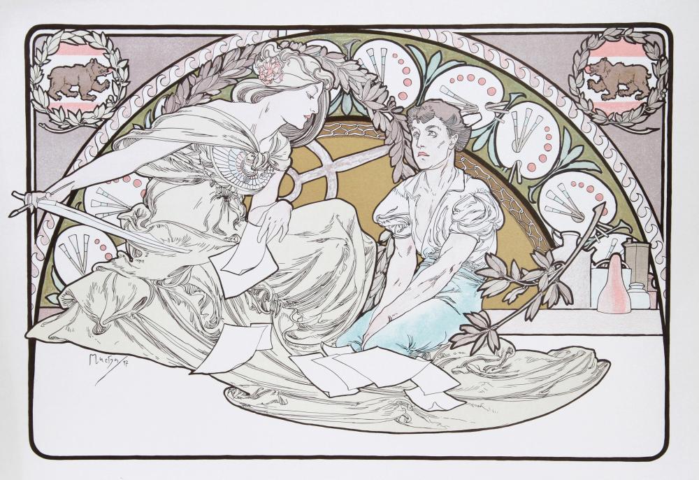 Alphonse Mucha, Heavenly Women, 18, Lithograph Poster