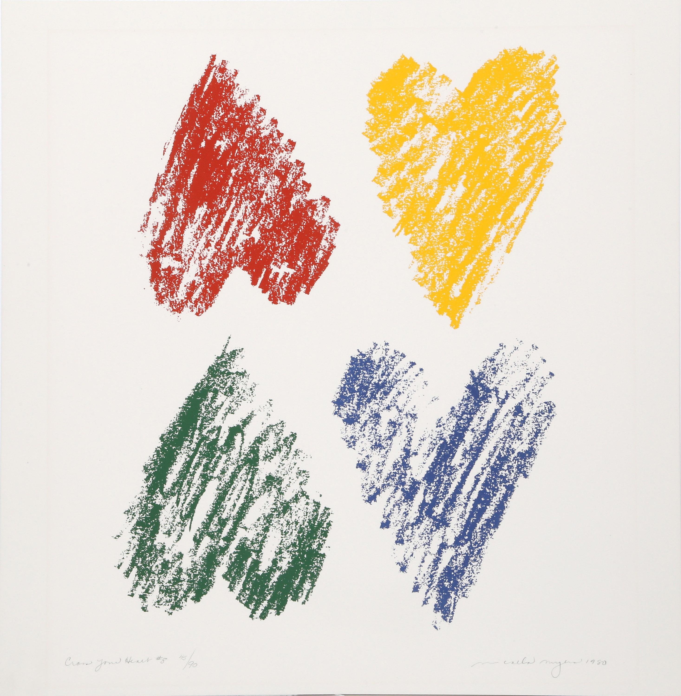 Micaela Meyers, Cross Your Heart, Lithograph