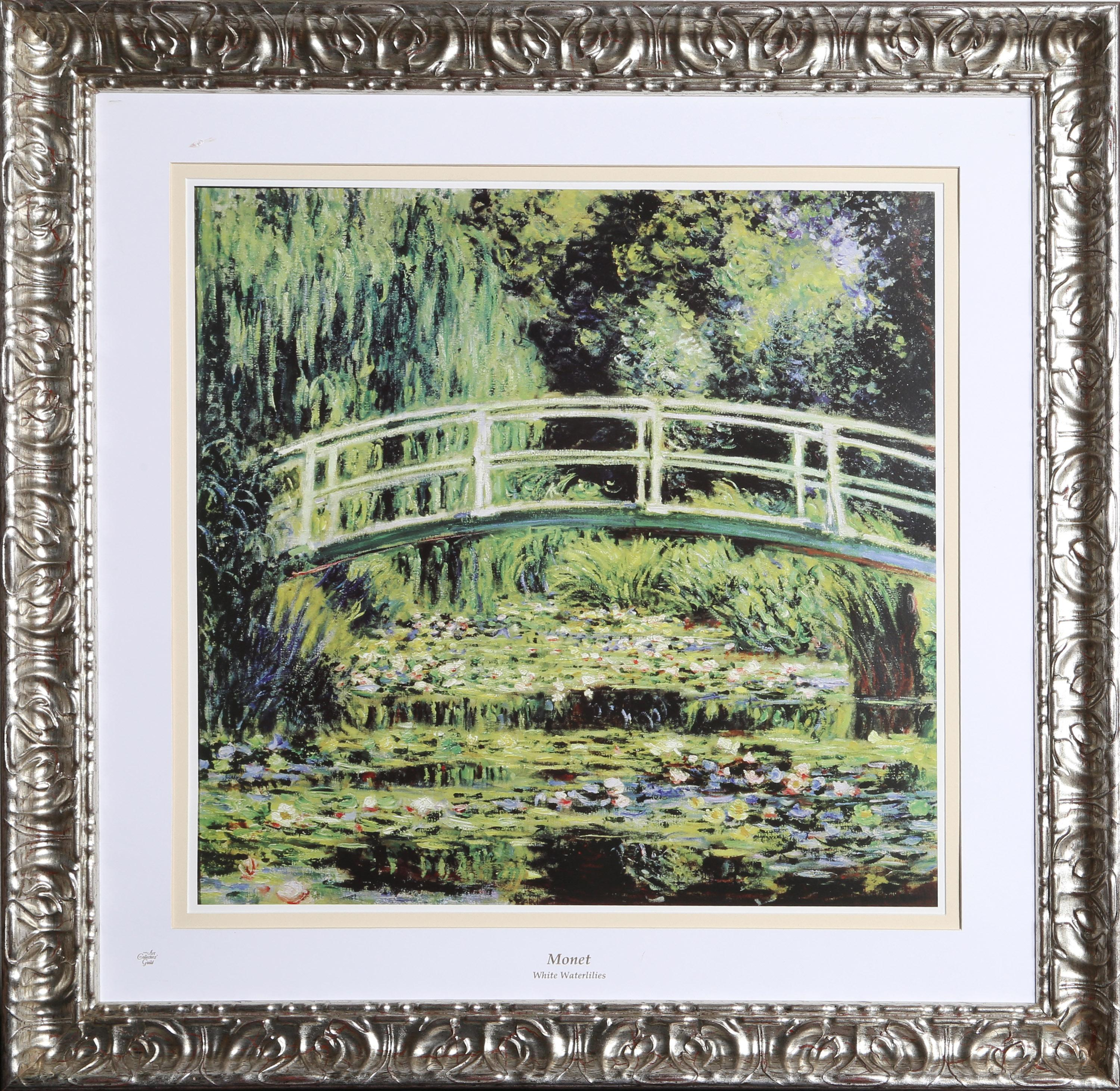Claude Monet, White Waterlilies, Lithograph Poster