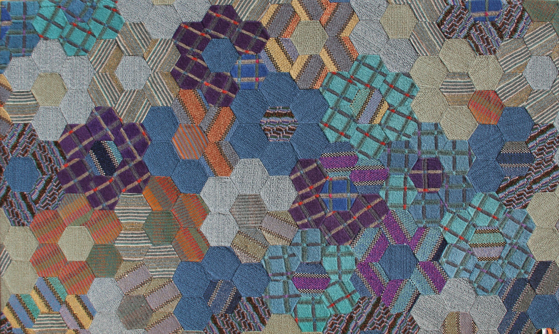 Ottavio Missoni, No. 1 - Hexagons, Woolen Tapestry
