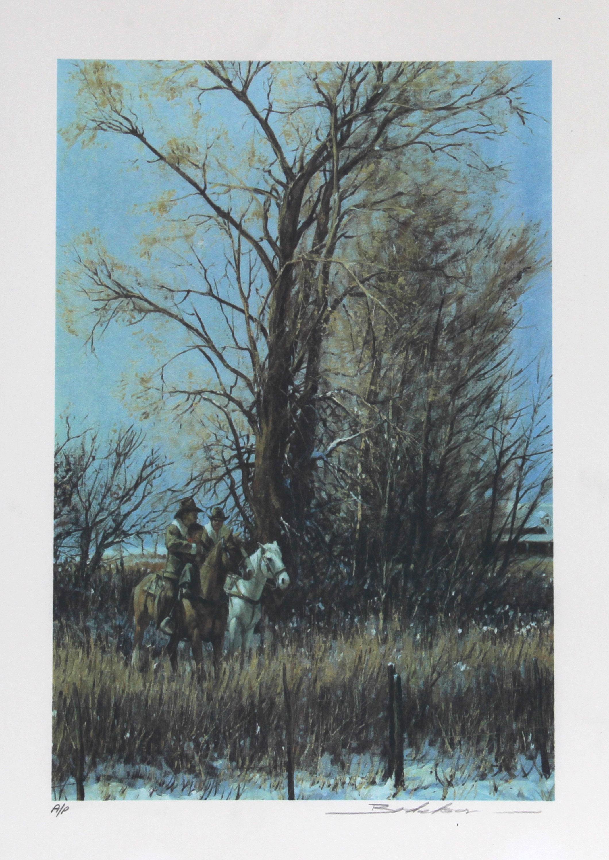 Dan Bodelson, Cold Little Cowboy, Lithograph