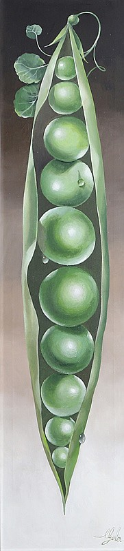 A. Lester Gaba, Pea Pods, Oil Painting