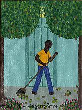 Rodolpho Tamanini Netto, 10 - Man Raking Leaves, Oil Painting