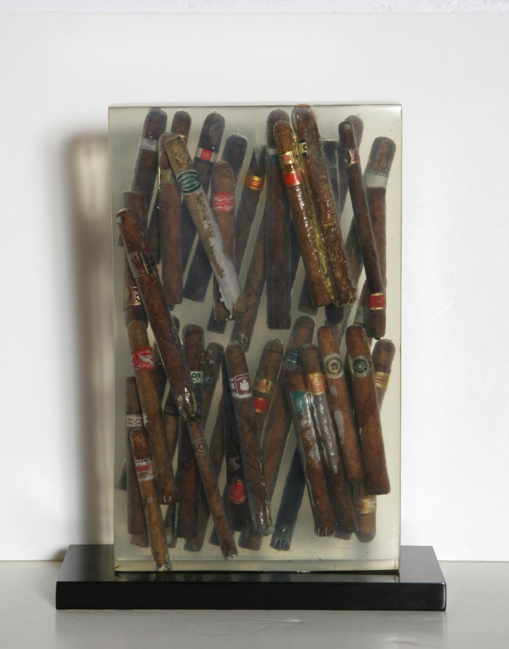 Arman, Waiting to Exhale, Accumulation of Cigars Sculpture