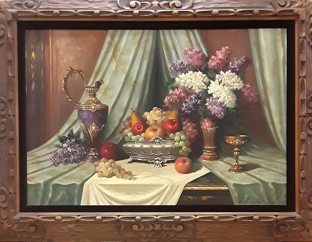 Bela Balough, Classical Still Life, Oil Painting