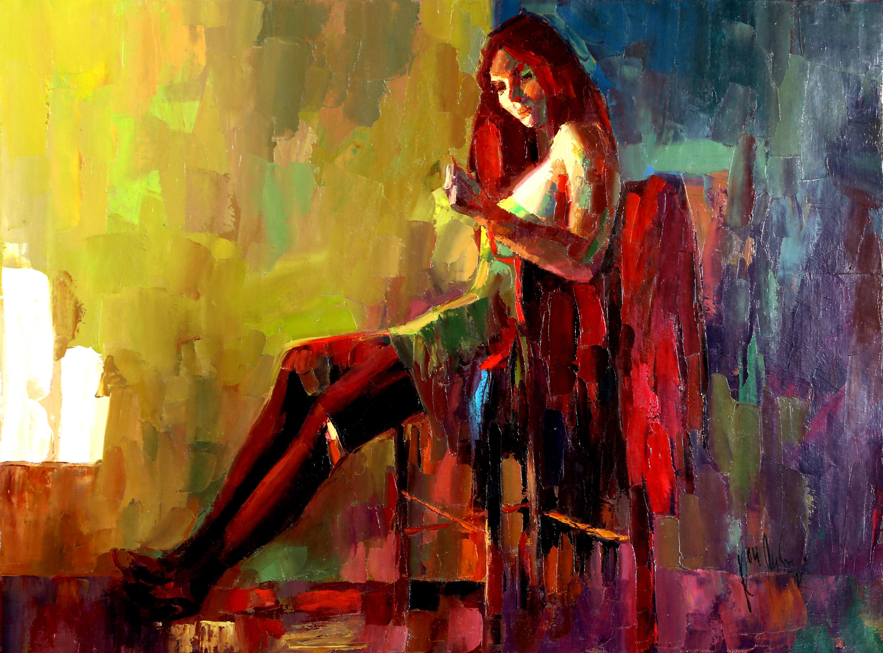 Roy Austin, Woman, Oil Painting