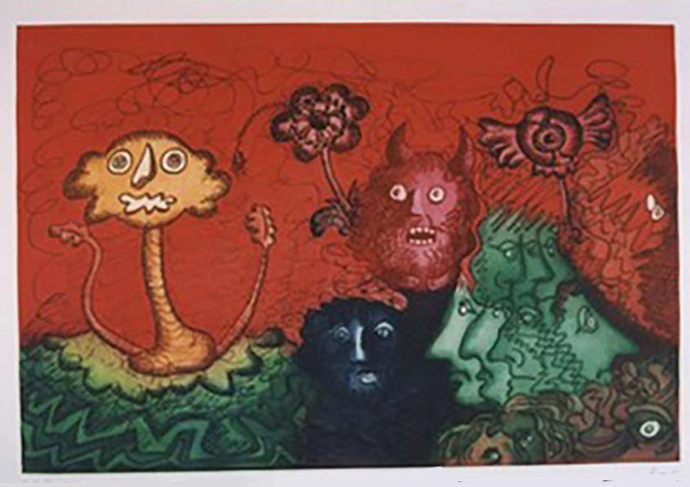 Enrico Baj, Incontri Ravvicinati, Color Etching