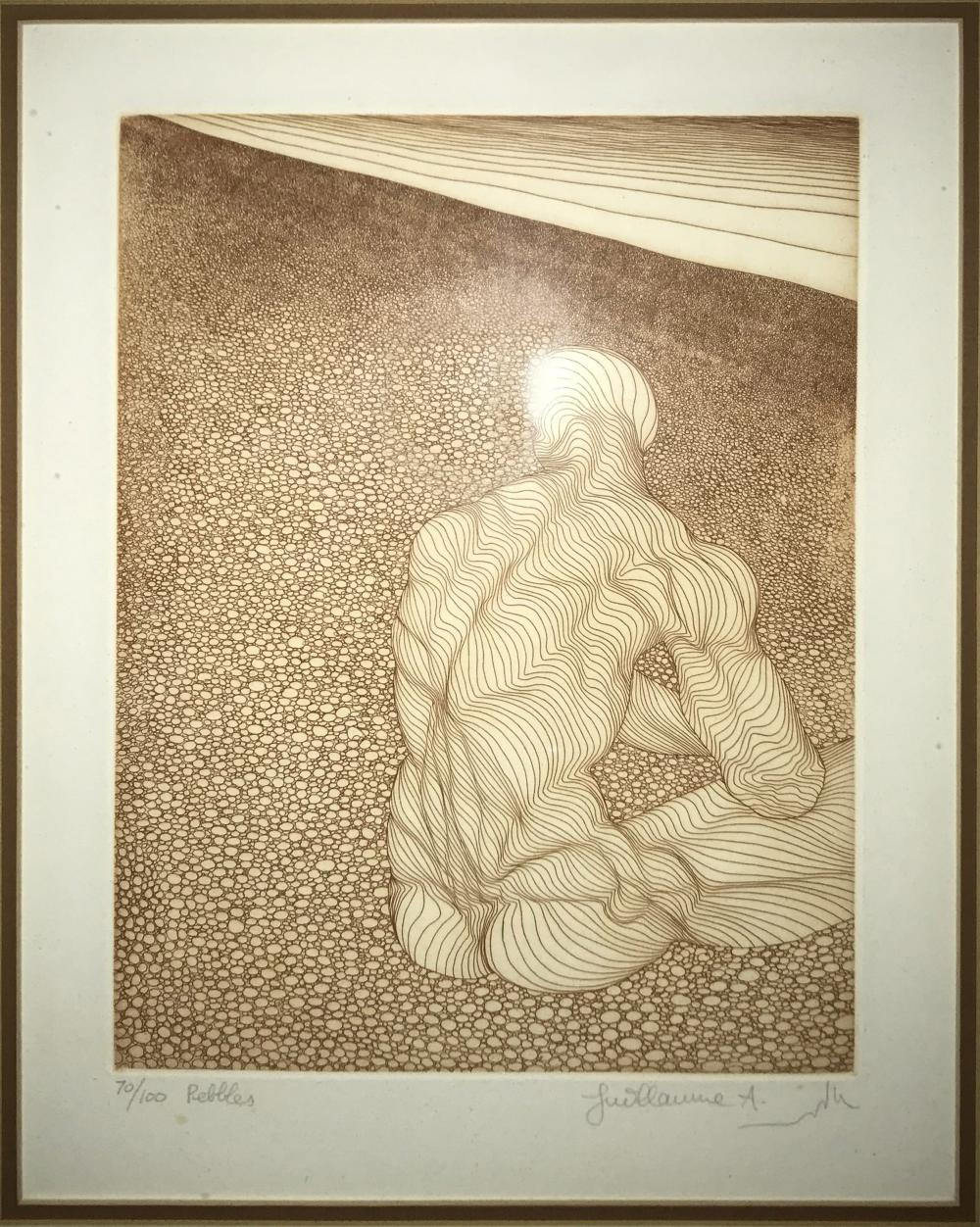 Guillaume Azoulay, Pebbles, Etching
