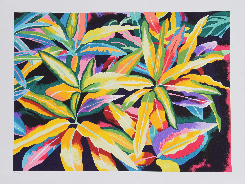 Linda Bastian, Tropical Leaves, Lithograph