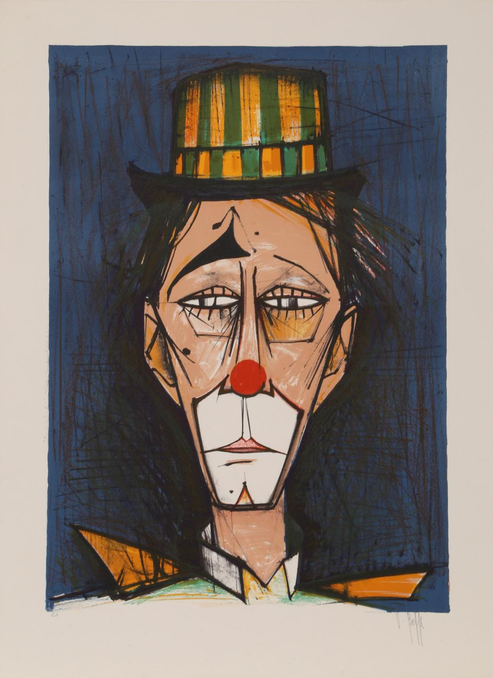V. Beffa, Clown, Lithograph