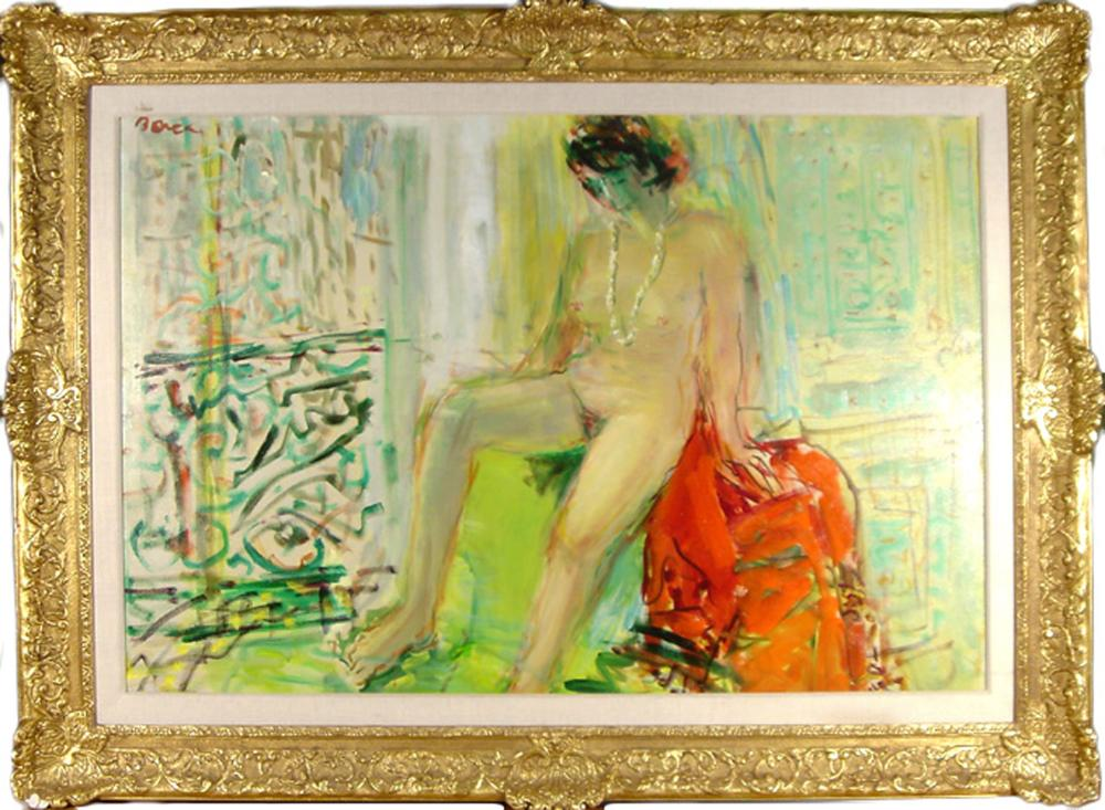 Dimitrie Berea, The Countess X Nude in Paris, Oil Painting