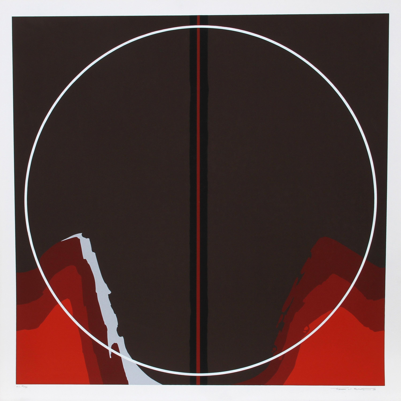 Thomas W. Benton, Earth Series Red II, Silkscreen