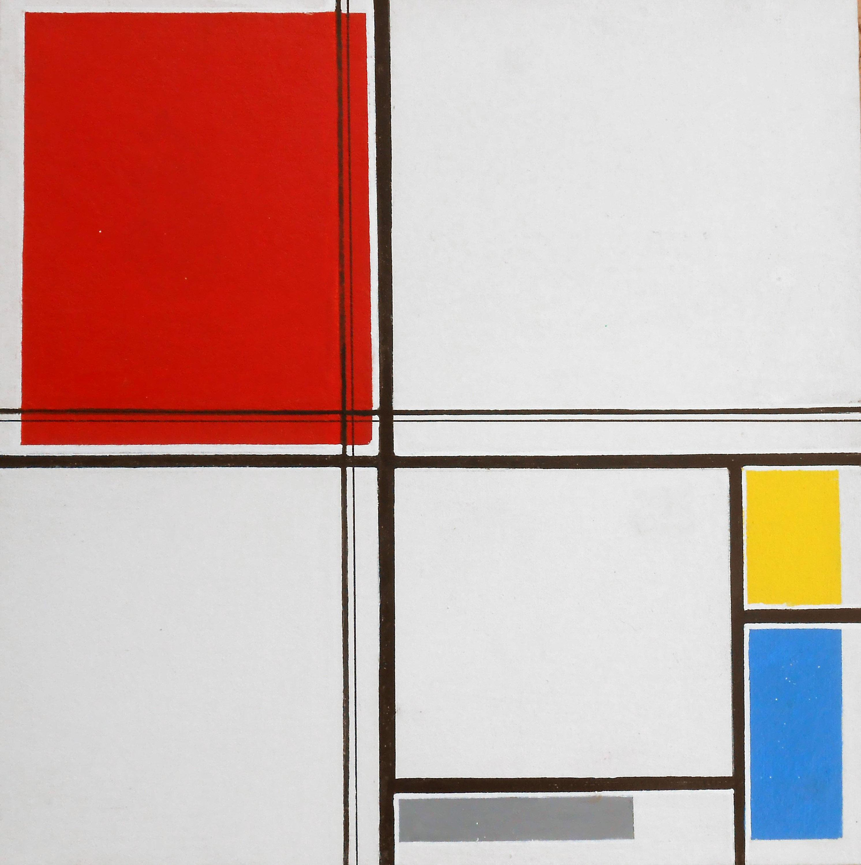BONO, Study No. 5 of Composition A, Acrylic Painting