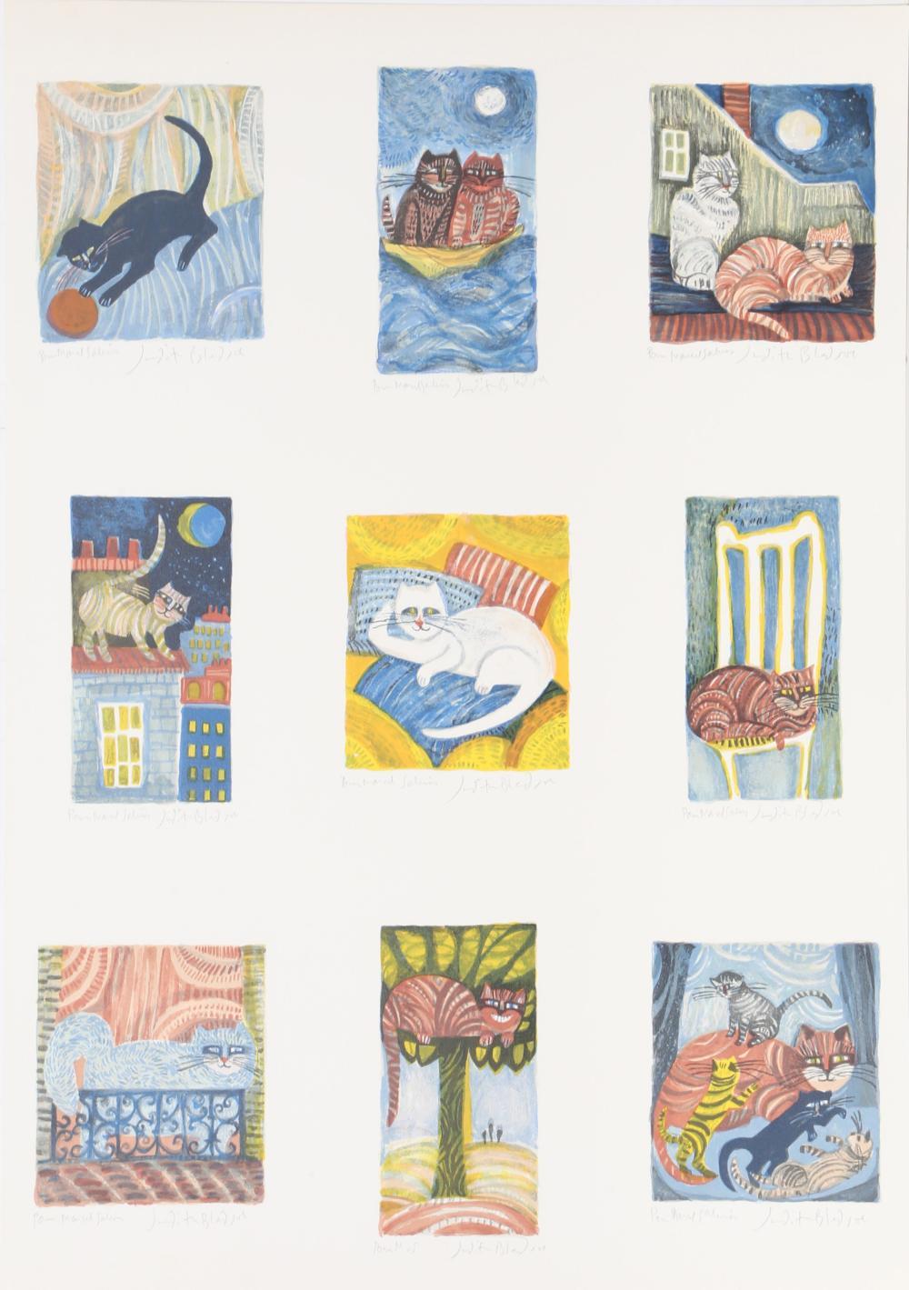Judith Bledsoe, Nine Lives, Lithograph