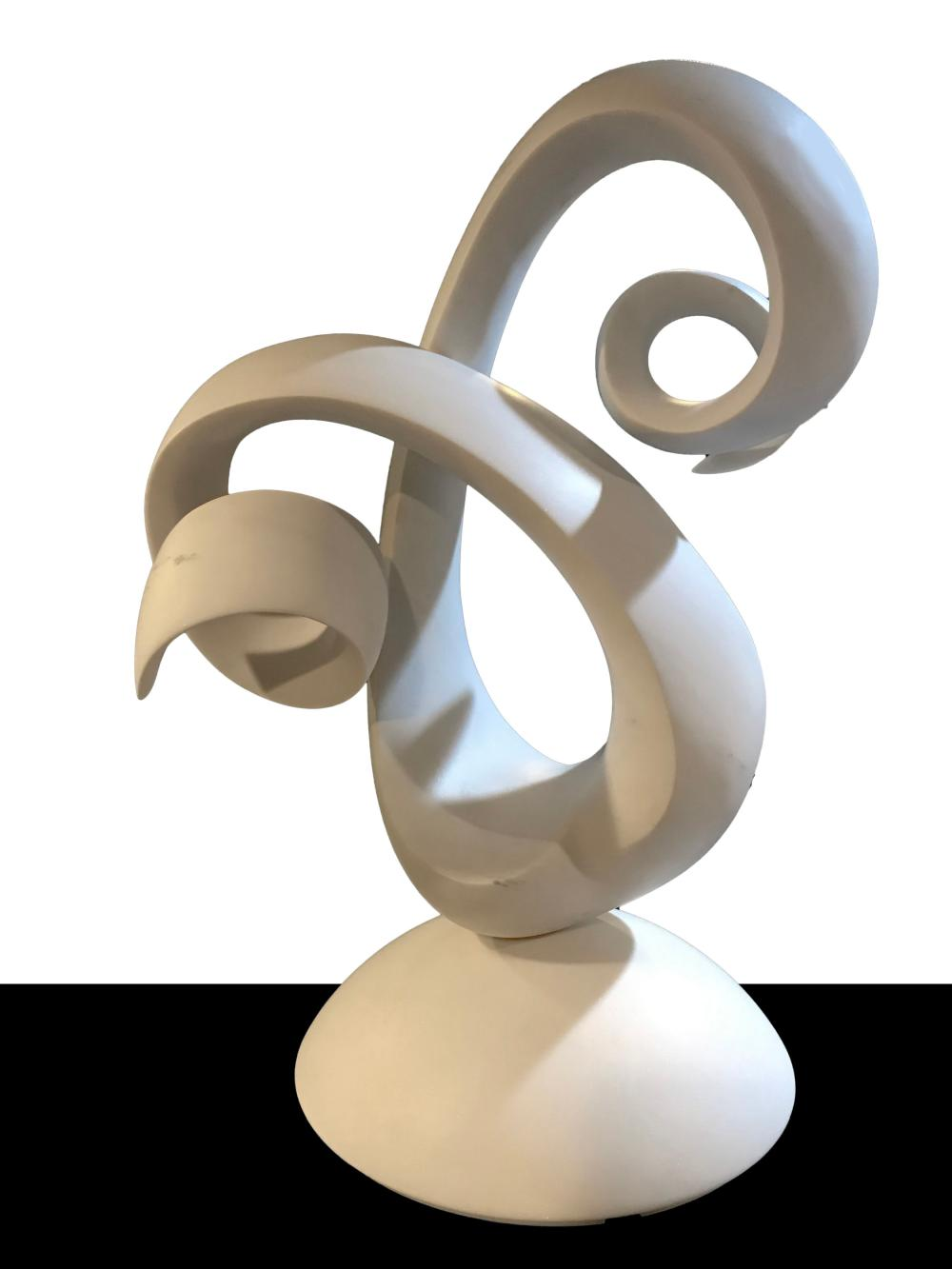 Ellen Brenner-Sorensen, White Abstract, Carved Marble Sculpture