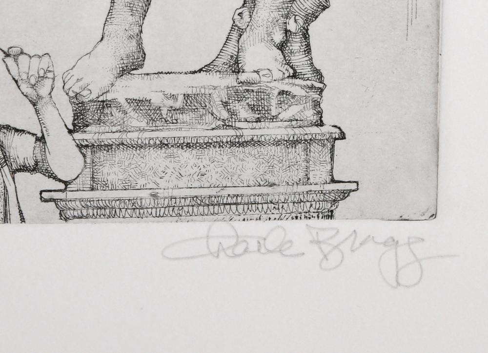 Charles Bragg, David, Etching