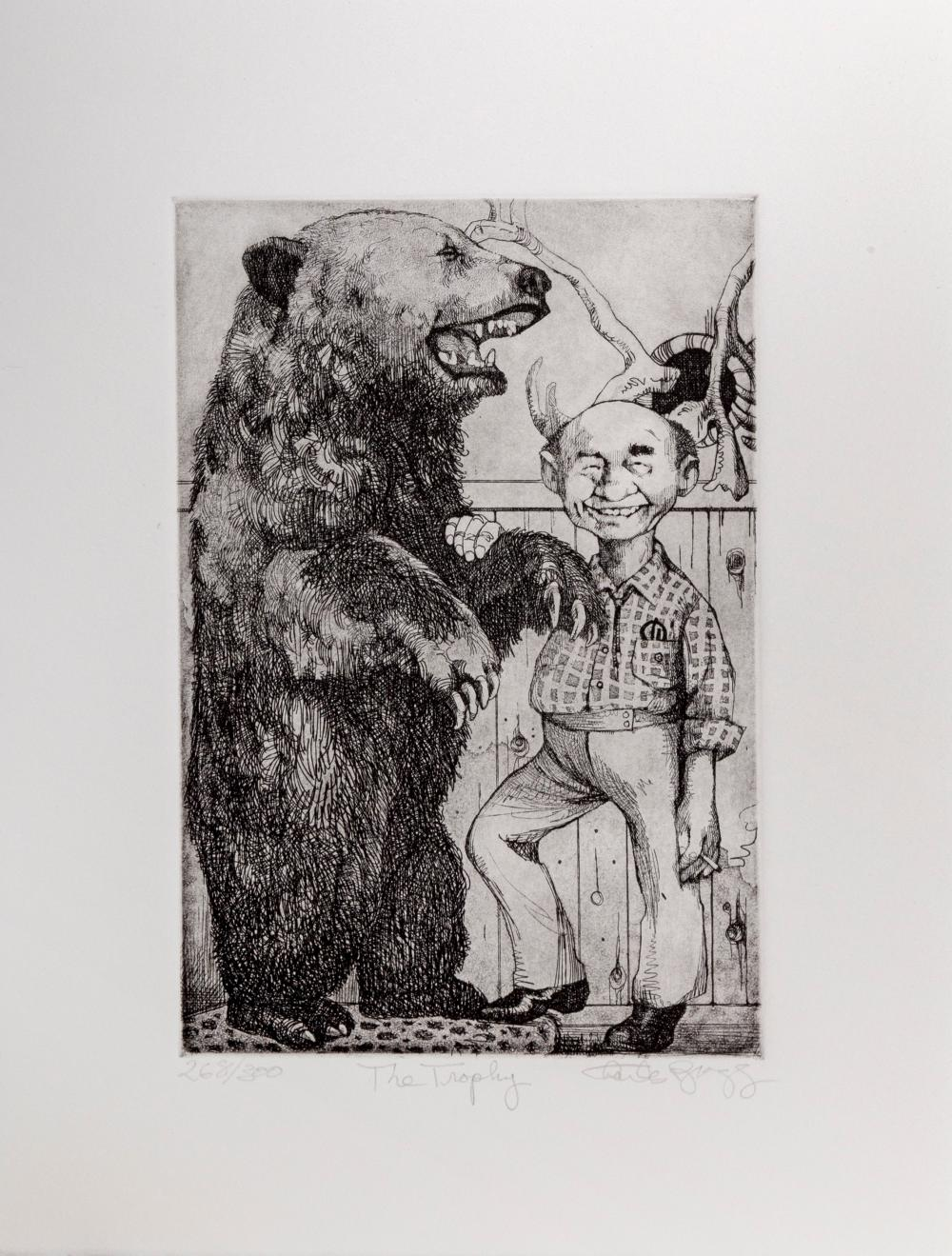 Charles Bragg, The Trophy, Etching