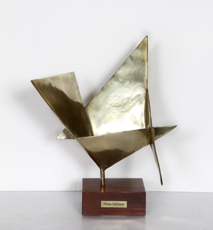 Elayne Fabrikant, untitled, Polished Bronze Sculpture