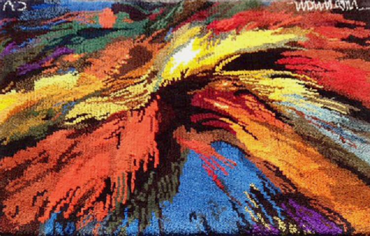Leonardo Nierman, Firebird II, Tapestry