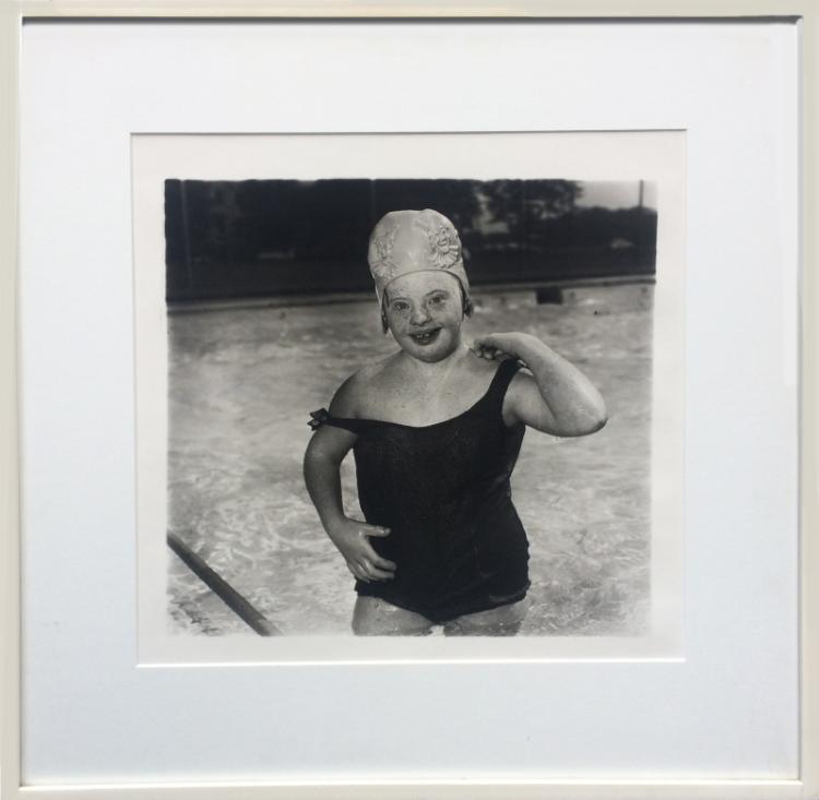 Diane Arbus, Untitled - Girl in Swimming Cap (11), Gelatin Silver Print Photograph