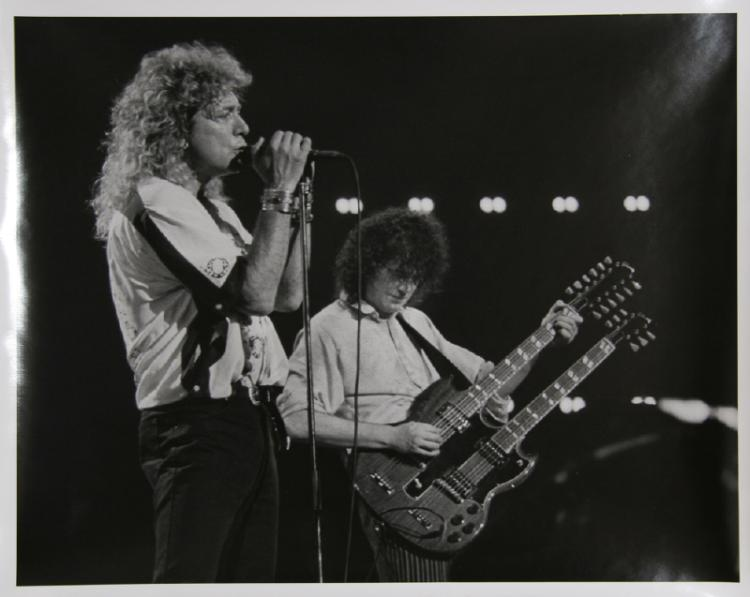 Rita Barros, Led Zepplin in New York: Robert Plant and Jimmy Page, Gelatin Silver Print Photograph