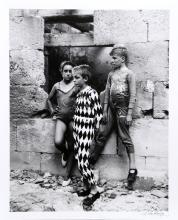 Lucien Clergue, Trio de Saltimbanques, Arles, Gelatin Silver Print Photograph